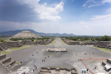 High angle view of an archaeological site, Teotihuacan, Mexico City, Mexico 2013-06-10 2:58:42 PM