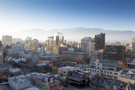 Aerial view of a city, Providencia, Santiago, Chile 2011-06-23 7:33:39 AM