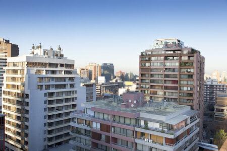 Buildings in a city, Santiago, Chile 2011-06-23 7:34:05 AM