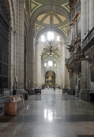 Interiors of a church, Metropolitan Cathedral Of The Assumption Of Mary, Mexico City, Mexico 2013-06-11 12:34:10 PM