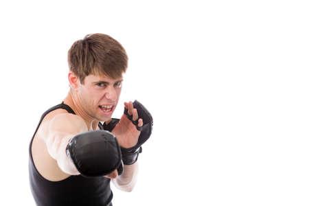 sportsperson: Model in studio isolated on plain grey background