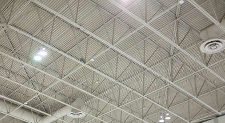 factory: Low angle view of ceiling of a factory Stock Photo