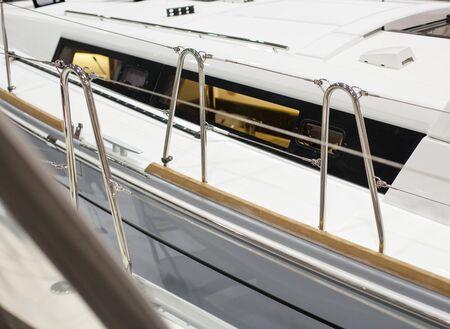 shiny: Shiny railings of yachts