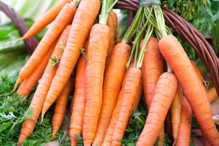 la boqueria: Close-up of organic carrots for sale at a market stall, La Boqueria Market, Barcelona, Catalonia, Spain