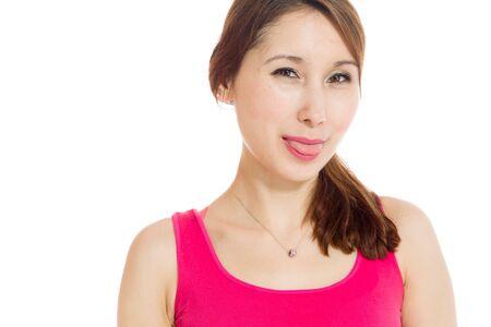 lengua afuera: Aislado Modelo pegue la lengua