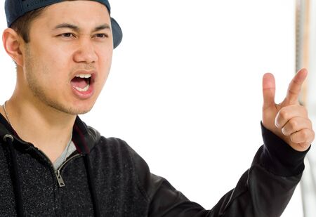 scolding: Model angry scolding and pointing