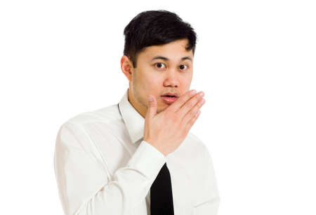 covering mouth: Model isolated covering mouth