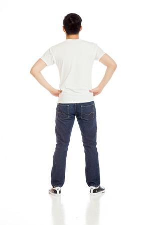 Model isolated showing her back Standard-Bild