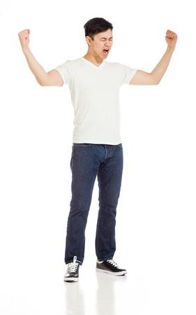 Bras succès heureux modèles dans l'air Banque d'images - 40626179