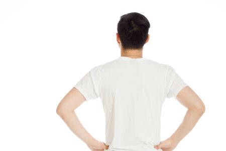 Model isolated showing her back Stock Photo