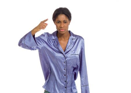 scold: Model angry scolding and pointing