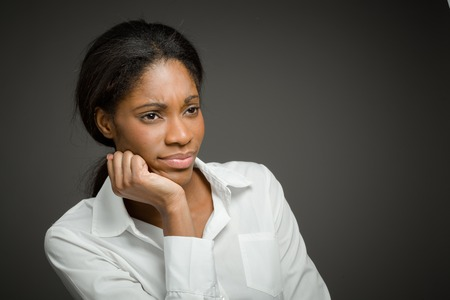 african women: Model isolated depressed boredom