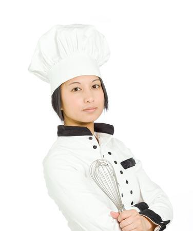 asian ethnicity: Model shot in studio on white Stock Photo