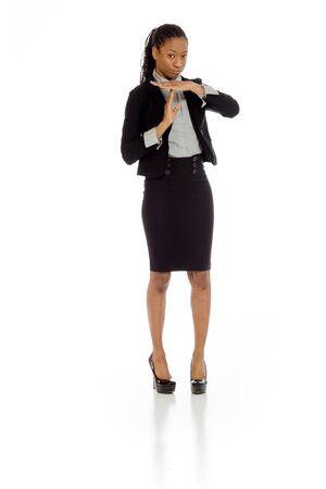 black professional: Model isolated need a break Stock Photo