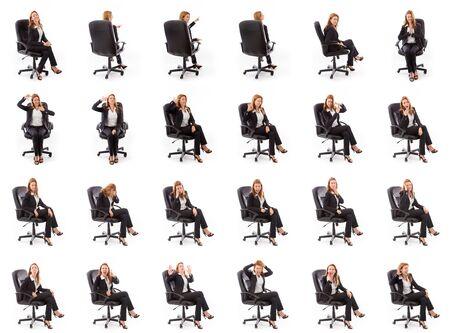gestos de la cara: Collage de diferentes expresiones faciales