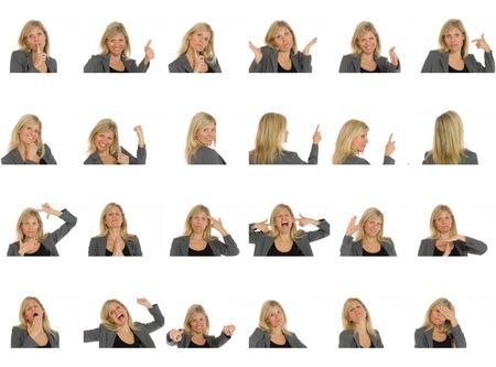 Collage de différentes expressions faciales Banque d'images - 41009959