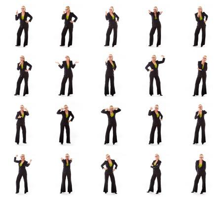 Collage van verschillende gezichtsuitdrukkingen Stockfoto