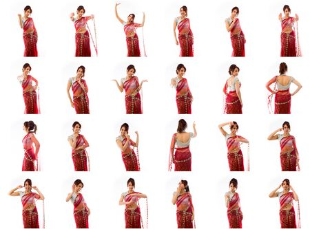 indian women: Collage of different facial expressions Stock Photo