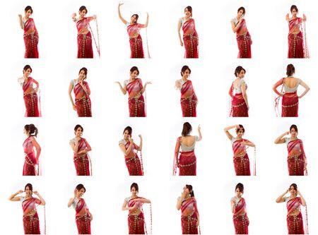 Collage van verschillende gezichtsuitdrukkingen Stockfoto - 41010536