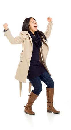 Bras succès heureux modèles dans l'air Banque d'images - 41010914