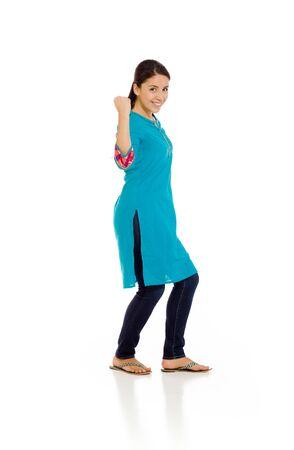 mexican dress: Model triumph victory fist