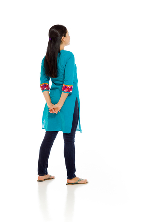 mexican dress: Model isolated from behind Stock Photo