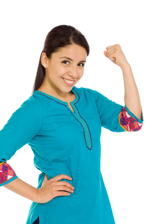 mexican dress: Model strength arm curl