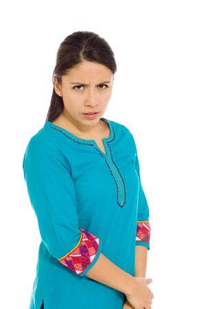 mexican dress: Model sadness upset worried