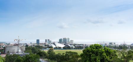 Skyline dans la ville en bord de mer, Trinidad, Trinité-et-Tobago Banque d'images - 50455461