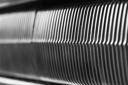 grille': Full frame shot of radiator grille of vintage car