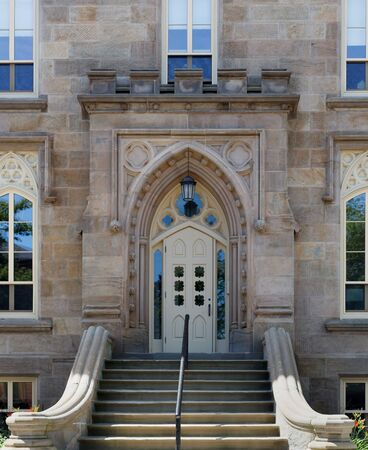 steps and staircases: Entrance of a church, Prince Edward Island, Canada