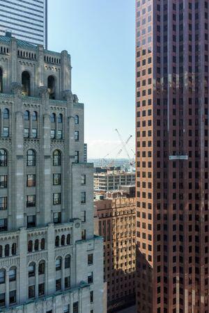 ontario: View of office buildings, Toronto, Ontario, Canada