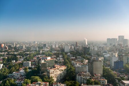 elevated view: Elevated view of cityscape, Mexico