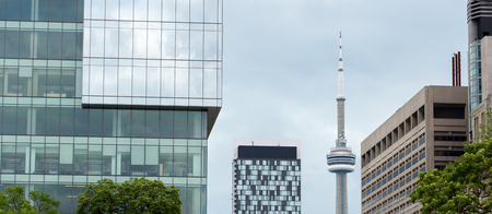 building cn tower: CN tower in Toronto against sky, Toronto, Ontario, Canada Editorial