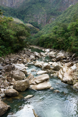 cusco region: Urubamba River passing through mountain, Machu Picchu, Cusco Region, Urubamba Province, Machupicchu District, Peru