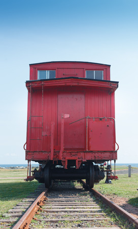 caboose: Historic Canadian national railway caboose, Prince Edward Island, Canada Editorial