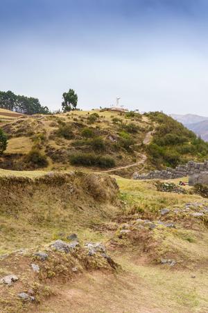 cusco: The Andes and Saksaywaman Inca ruins, Cusco, Peru