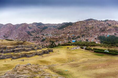 View of Cusco city from Sacsayhuaman ruins, Cusco, Peru