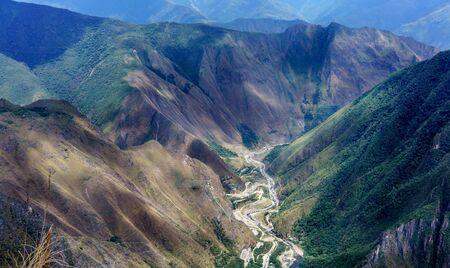 cusco province: Urubamba river flowing through green Andes, Machu Picchu, Cusco Region, Urubamba Province, Machupicchu District, Peru