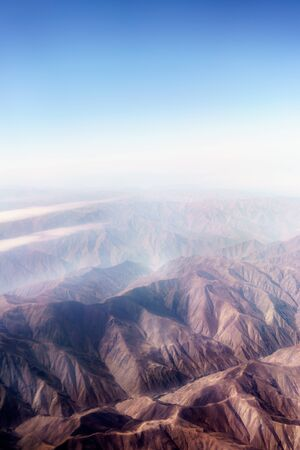 andes mountain: Aerial view of Andes mountain