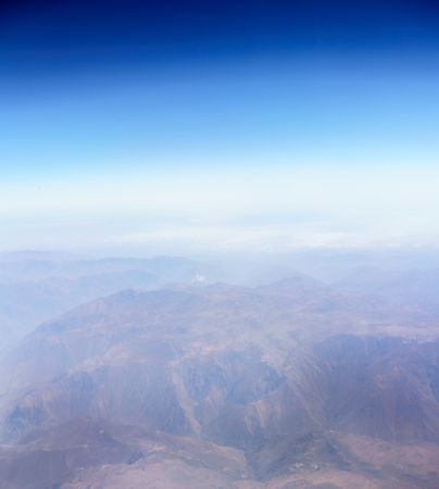 physical geography: Aerial view of Andes mountains