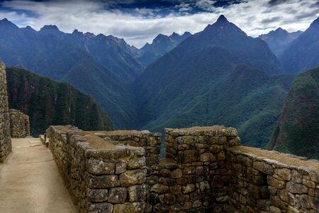 urubamba valley: View of mountains, Machu Picchu, Cusco Region, Urubamba Province, Machupicchu District, Peru