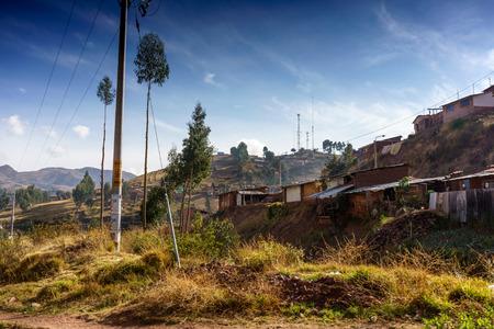 cusco: Village on hill, Cusco, Peru Stock Photo