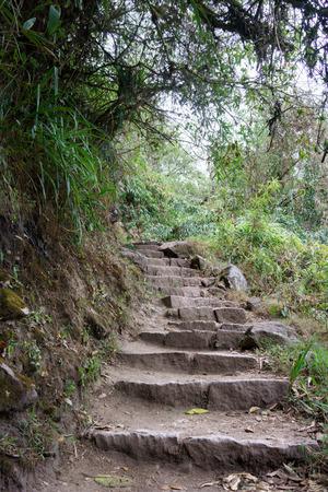 cusco province: Staircase on the Inca trail to Machu Picchu, Cusco Region, Urubamba Province, Machupicchu District, Peru