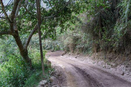 no pase: Camino de tierra que pasa a trav�s de la monta�a, Machu Picchu, Cusco Regi�n, Provincia de Urubamba, Distrito de Machupicchu, Per�