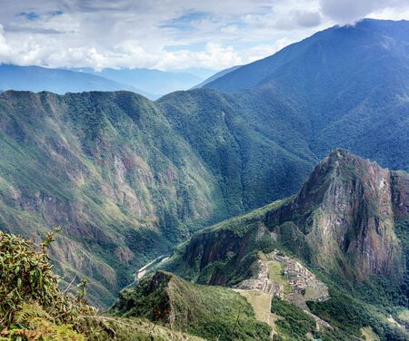 cusco region: High angle view of Machu Picchu, Cusco Region, Urubamba Province, Machupicchu District, Peru