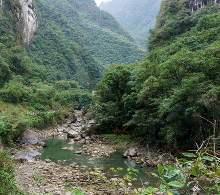 cusco province: Urubamba River passing through mountain, Machu Picchu, Cusco Region, Urubamba Province, Machupicchu District, Peru