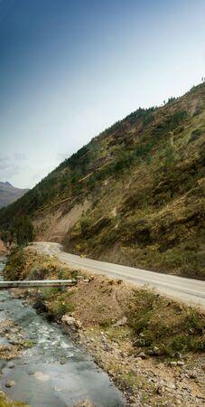 cusco: Road passing through mountains, Cusco, Peru