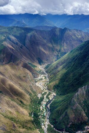 cusco region: Urubamba river flowing through green Andes, Machu Picchu, Cusco Region, Urubamba Province, Machupicchu District, Peru