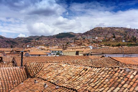 cusco: Roof of houses in city, Cusco, Peru